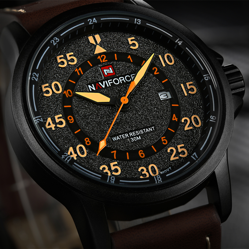 2017 Top Brand Luxury Fashion Men Sports Watches Men's Quartz Hour Date Clock Man Leather Strap Military Army Waterproof Watch high quality luxury brand men sports waterproof watches quartz hour clock men leather strap montre homme with auto date
