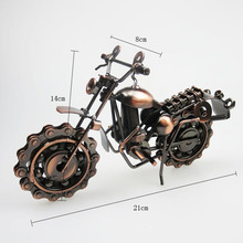 SAFEBET Hand Soldering Motorcycle Model Metal Moto Collection Miniature Garden