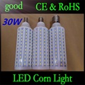 DHL Shipping E27 B22 E40 30W 5050 Chips165 LED Corn Light Warm/White Bulb Maize Lamps Home Indoor Outdoor street lighting 30pcs