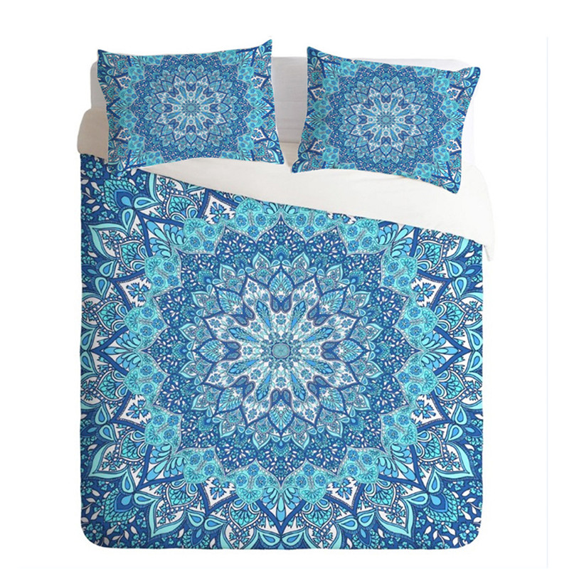 3pcs Indian Bohemia Crystal Arrays Printed Bedding Set Comfortable Duvet Cover With Pillowcase Sets Bedclothes Home Textile