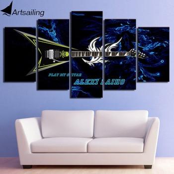 Afiche de guitarra con 5 piezas de arte de lona impreso en...