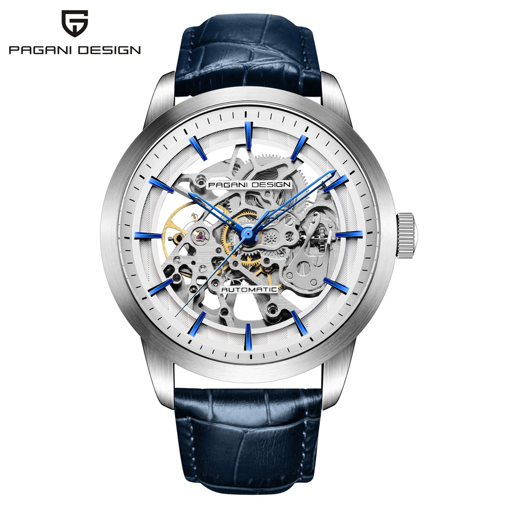 PAGANI DESIGN Luxury Brand Hollow Mechanical Watches Men Waterproof Business Automatic Self Wind Wrist Watch relojes hombre-in Mechanical Watches from Watches    1