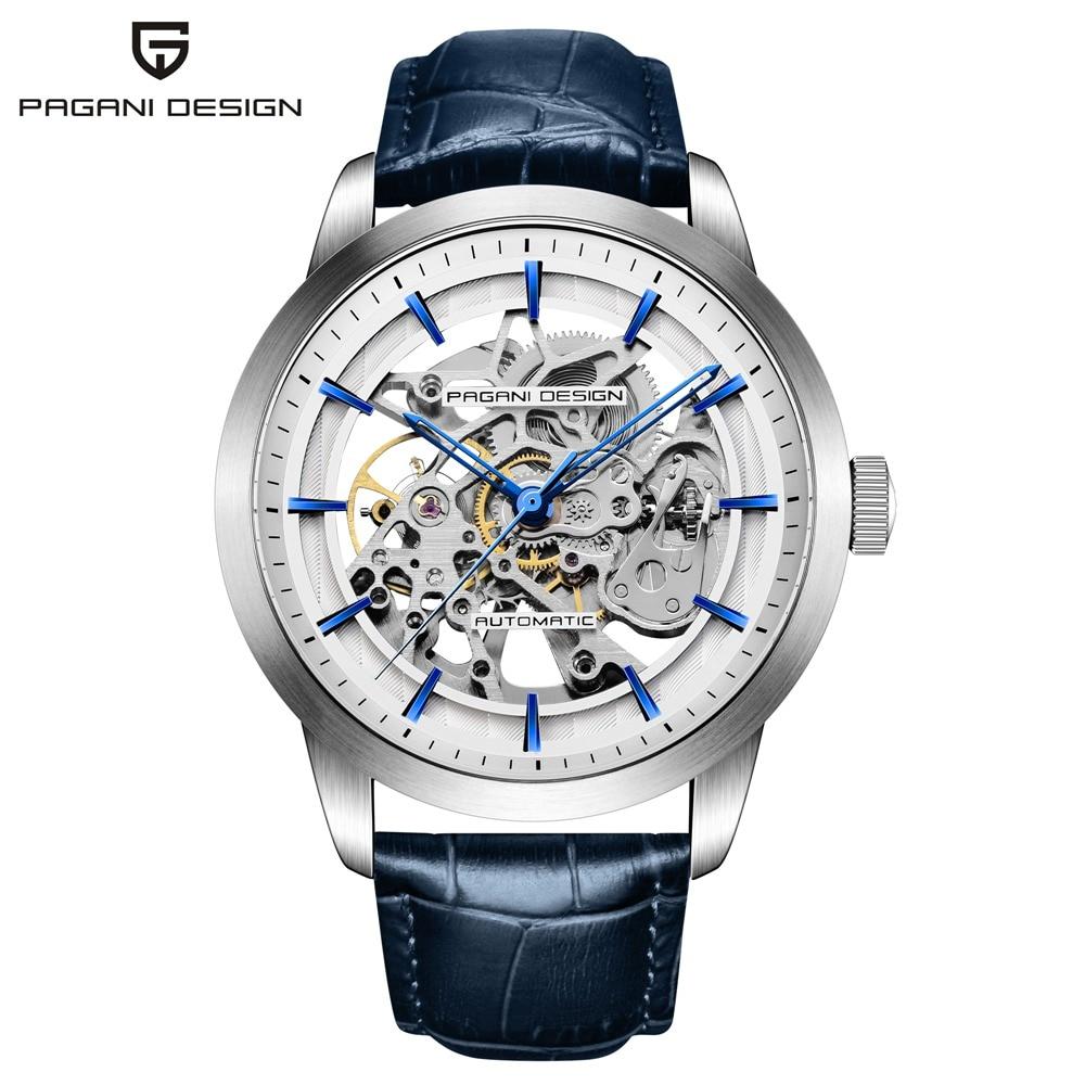 Pagani design 럭셔리 브랜드 중공업 기계식 시계 남성 방수 비즈니스 자동 자체 바람 손목 시계 relojes hombre-에서기계식 시계부터 시계 의  그룹 1