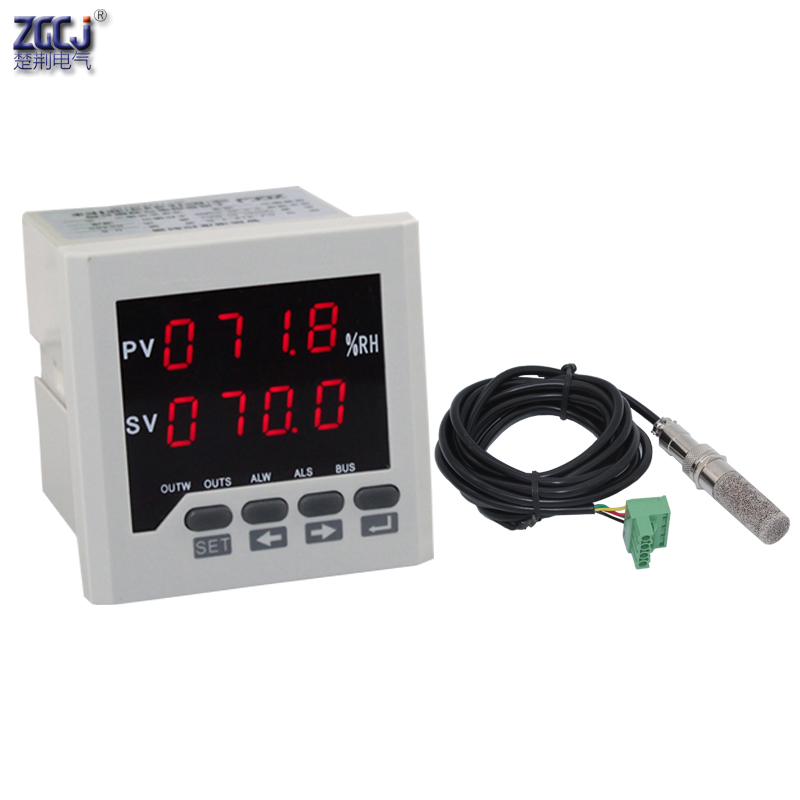 0 99 9 RH Humidity moisture panel meter digital Humidity controller with humidity sensor which bear high temperature in Moisture Meters from Tools