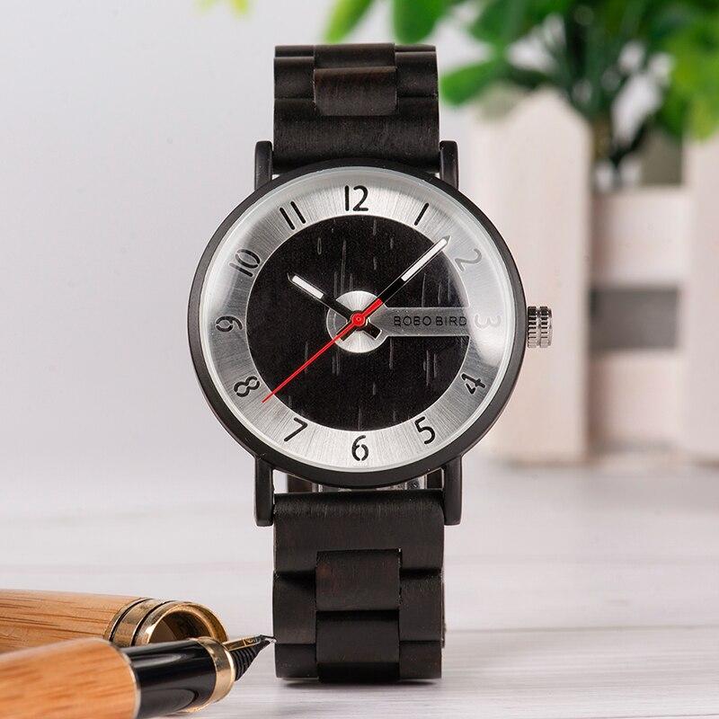 BOBO BIRD High Quality Watch Men Quality Wooden Quartz Male Metal Watch face Gift box saat erkek clock Top Brand Luxury