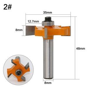 Image 4 - 1 adet 8mm Shank T tipi rulmanlar ahşap freze kesicisi Endüstriyel Sınıf Rabbim Bit ağaç İşleme aleti freze uçları ahşap