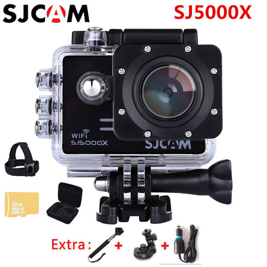 SJCAM SJ5000X Elite 4K Action Camera 1080p Wifi 2K 30fps Gyro Sports DV LCD Diving 30m Waterproof Helmet Sport Action Camera 4K sport elite se 2450