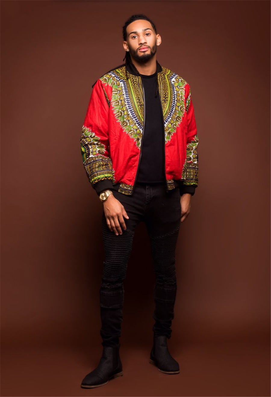 GuyuEra Hot Sale Africa Men\`s Dashiki Style Couple Wear Vintage Ethnic Men\`s Dashiki Jacket African Print Jacket Plus size S-XL (19)