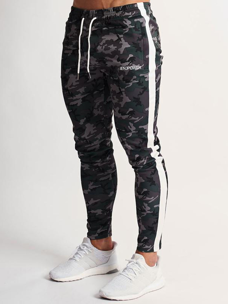Fashion Camouflage Brand Pants Fitness Casual Elastic Pants Bodybuilding Clothing Casual Navy Military Sweatpants Joggers Pants