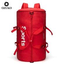 OZUKO модный мужской женский рюкзак для путешествий, Большой Вместительный Многофункциональный багажный рюкзак для фитнеса, кроссфита, тренировочная спортивная сумка