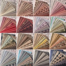 23x33cm 11Piece polychromatic the cheapest Japanese first dye washed fabric stitching dol DIY plaid cotton doll cloth