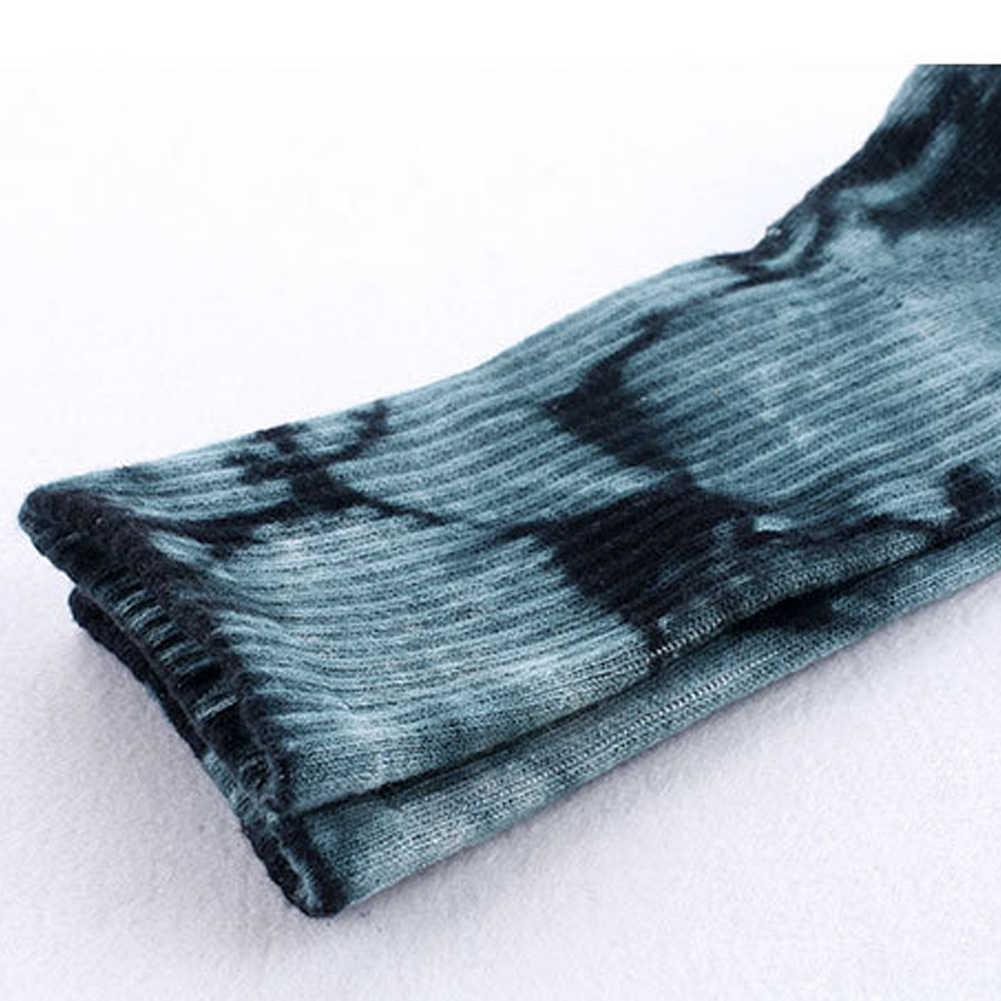 Uomini Unisex Novità Colorato Tie-Tintura di Skateboard Calzini E Calzettoni. Cotone Harajuku Hiphop Calzini E Calzettoni Sox Etnico Coppia Calzino Meias