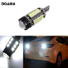 BOAOSI 1x T15 LED Car CANBUS Samsung 5050 Chip Backup Reverse Light for mazda 6 8 cx-3 cx3 cx-5 cx5 8 cx 5 m8 rx8 mazda m5 2008