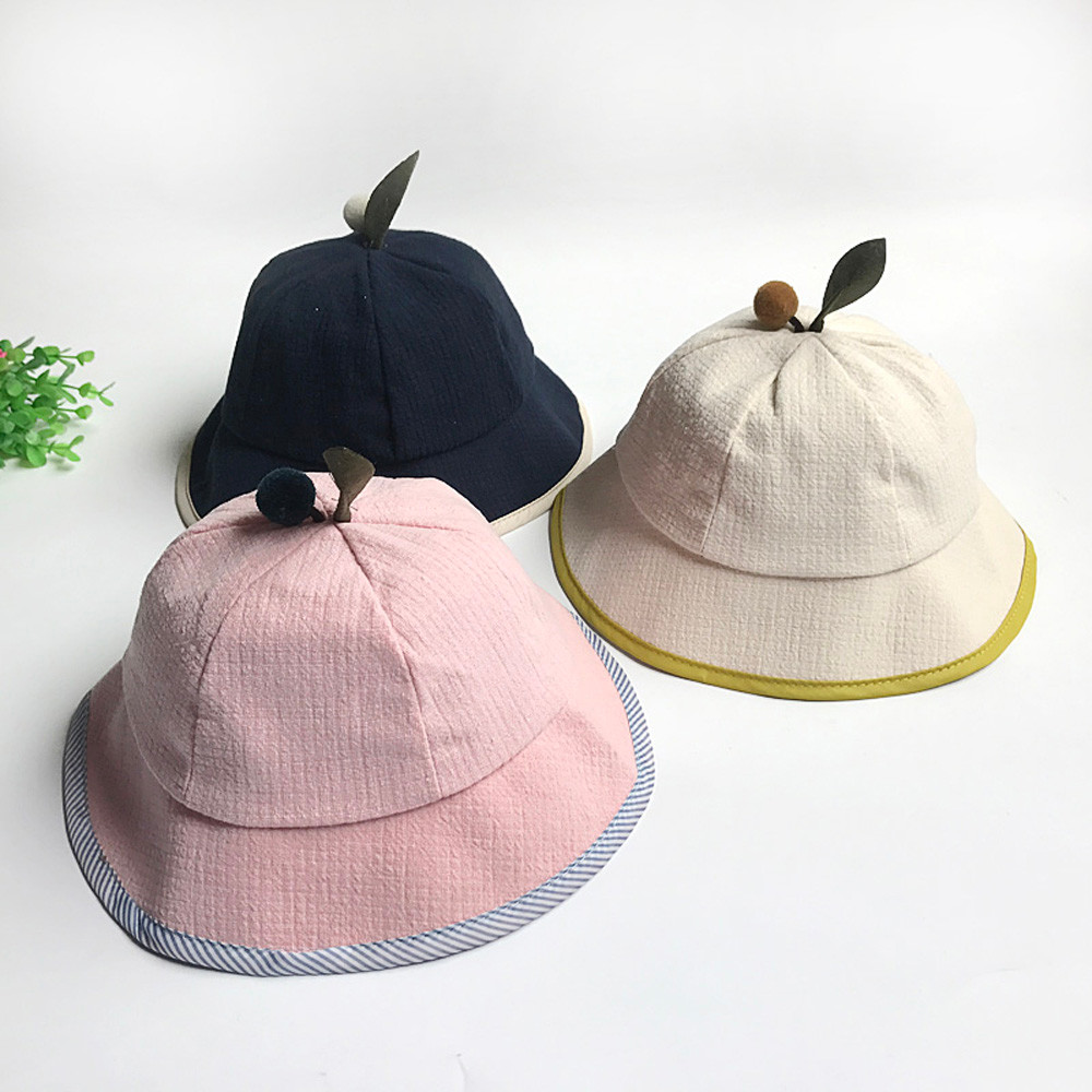 autumn leaves pot fisherman summer Tree Leaves Cute Baby Shade Fisherman Cap Girl Boy Leisure Bucket Hat P30 beanie st5