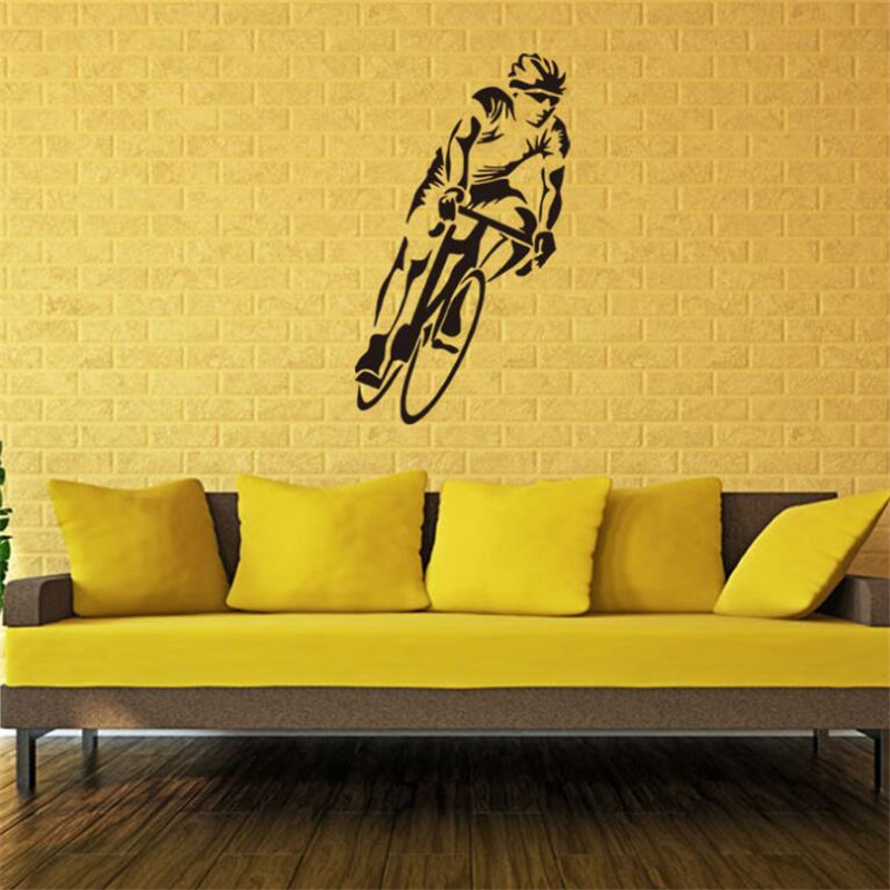 IDFIAF Bike Bicycle racing Palyer Sports wall art Art Decor Sticker ...