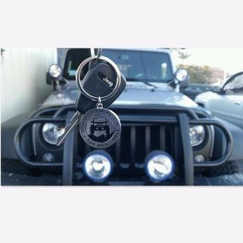 Armsky błyszczący brelok do kluczyków do samochodu dla entuzjastów jeepa- #8222 nie podążaj za mną nie zrobisz tego #8221 idealny brelok do prezentów dla każdego właściciela jeepa tanie i dobre opinie 1 5inch STAINLESS STEEL Breloki Key Chain for Jeep Enthusiasts Key rings
