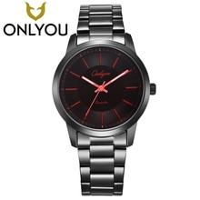 ONLYOU Amantes Da Moda Assista Famosa Marca Estilo Simples relógios de Bolso Homens Masculino de Design Exclusivo Dial Relógio Do Esporte relógio de Pulso de Quartzo