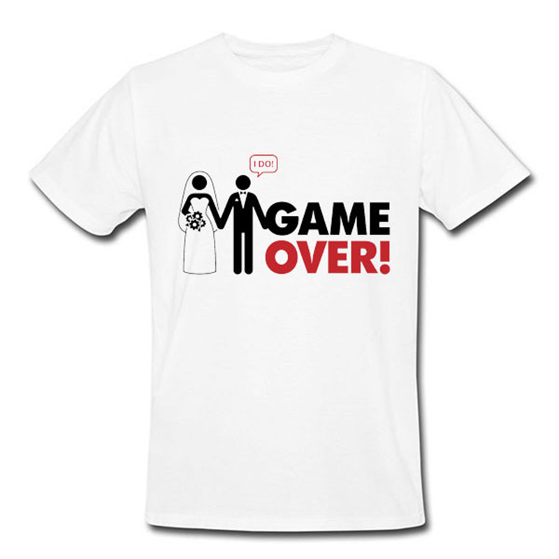 New fashion design game over men t shirt funny wedding for T shirt design game