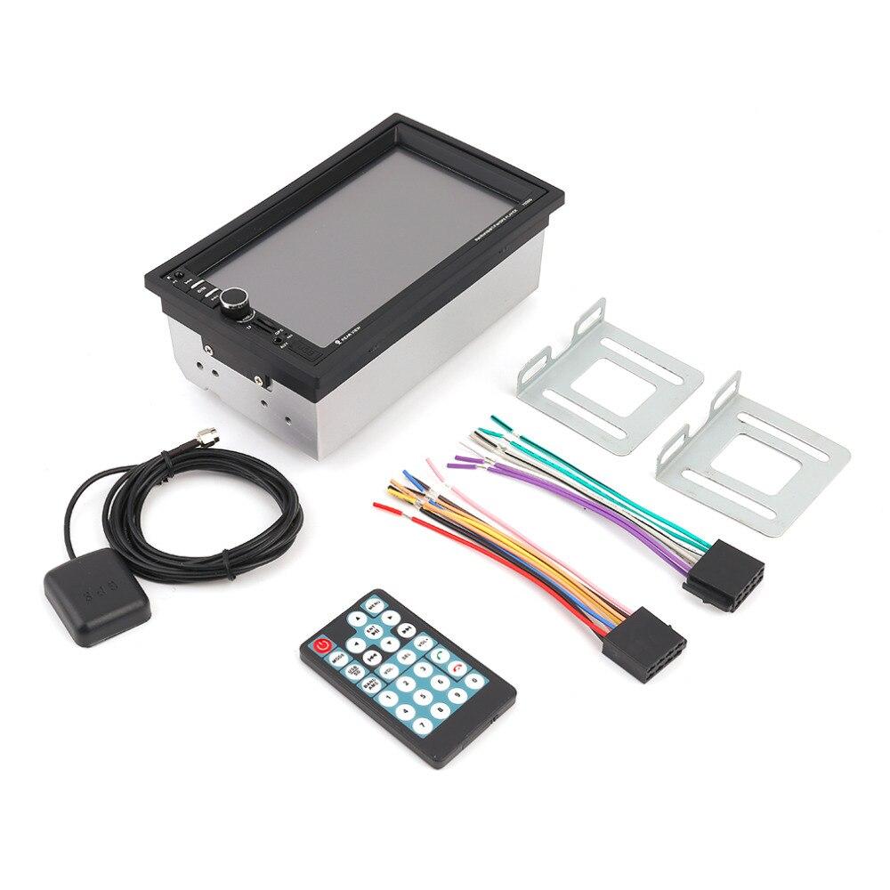 Новый 7-дюймовый 7020G Bluetooth Автомобильный аудио стерео mp5-плеер с камерой заднего вида Сенсорный экран GPS/FM/АМ функция навигации