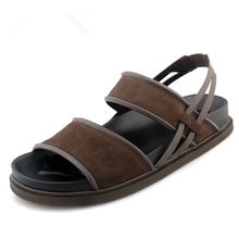 HOT New Summer Men's GENUINE LEATHER Casual Rome Sandals Outdoor Slides Thongs Beach Shoes
