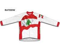 2017 libanon vlag winter wielertrui winter thermische fleece fietsen clothing ropa ciclismo fietsen jacket