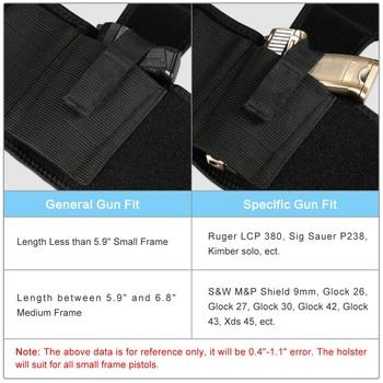 Concealed Carry Ankle Leg Holster for Glock 17 19 22 23 Ruger Lcp Sig 9mm Gun Pistol 6