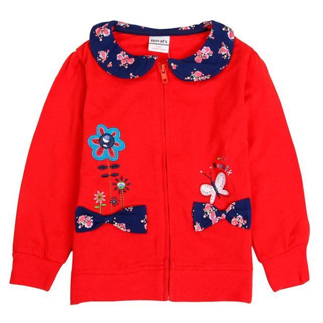Розничная весна осень baby girl clothing куртка 2016 новый рожденные цветочные nova дети теплый childen одежда пальто новый girls clothing