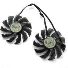 Everflow T129215SU 87 мм для Gigabyte GTX1060WF2OC N1050OC-2GD GTX1050TI GTX1060 RX 580 12 В 0.50A 4Pin видеокарта вентилятор охлаждения