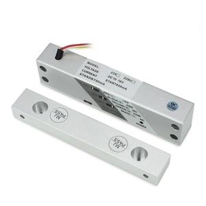 Image 3 - Cerradura magnética de perno de caída para puerta de madera, 12VDC, cerradura para verja eléctrica de montaje en superficie con temporizador