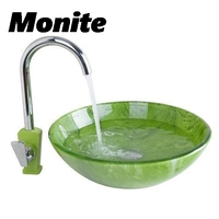 Yanksmart Bathroom Sink Washbasin Ceramics Hand Painted Waterfall 416897085 Lavatory Bath Combine Brass Set Faucet Mixers