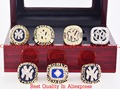 Who Can Beat Our Rings,High Quality  1977/1978/1996/1998/1999/2000/2009 New York Yankees  Championship Rings with Wooden Box