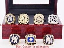 Que Puede Vencer A Nuestros Anillos, Alta Calidad 1977/1978/1996/1998/1999/2000/2009 New York Yankees Campeonato Anillos con Caja De Madera