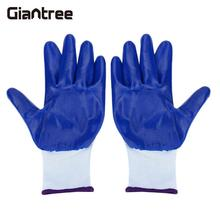 giantree 1Pair Soft Nitrile Coated Gardening Landscaping Work Gloves With fingertips anti-Puncture Resistant nylon and NBR