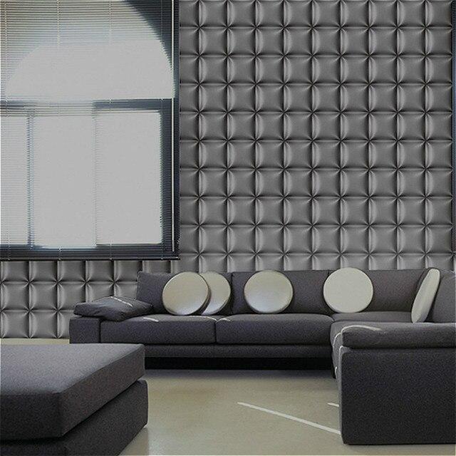 Viola/Grigio Moderno 3D Wallpaper Per Soggiorno camera Da Letto ...