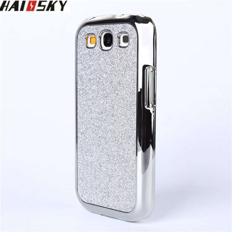 Haissky Luxury Bling Case For Samsung S3 Glitter Plating Mirror Hard PC Back Cover Case For Samsung Galaxy S3 Phone Accessories