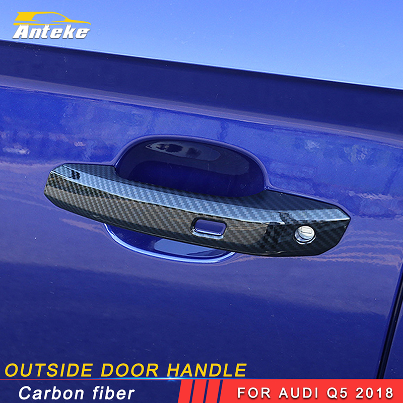 ANTEKE Car door lock frame cover trim sticker decoration accessories For Audi Q5 2018