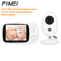 FIMEI XF808 3.5inch Baby Monitor Wireless Video Infant Monitor Home Security Nanny Camera Temperature Sleep Monitor Night Vision