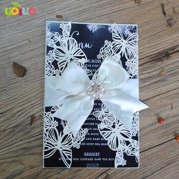 free shipping 50set inc271 New Laser Cut butterfly Wedding Invitations Elegant Wedding Invitation Cards