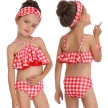 New Sexy Women Bikini Swimwear Girls Kids Swimsuit Bikinis Set  Child Swimming Swim Suit Beachwear Bathing High Waist