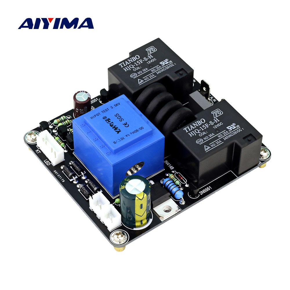AIYIMA 1000W Power Supply Delay Power Soft Start Protection Board High Power For Class A Amplifier DIY 30A Relay Protection 220VAIYIMA 1000W Power Supply Delay Power Soft Start Protection Board High Power For Class A Amplifier DIY 30A Relay Protection 220V