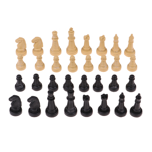 32 Pieces Wooden International Chess Set Creative Toys for Travel Games Chess Lover Gift Party Supplies