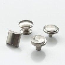 Атласный никелевый ящик для шкафа шкаф щеточная накладка на дверь ручка мебель кухонная фурнитура Ручка цинковый сплав