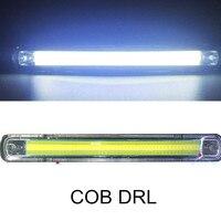 2pcs New 12V 12W COB Car LED DRL High Power Headlight Headlamp Auto DRL Daytime Driving