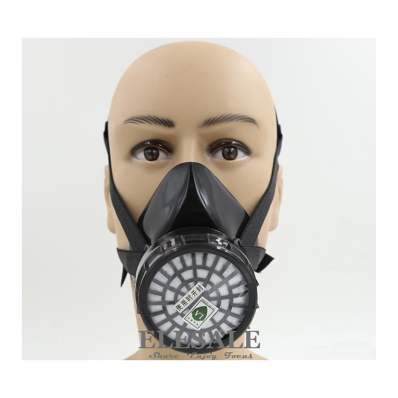 New Industrial Dust Gas Mask Respirator Chemical Gas Filter Half Face Mask For Painting Organic Vapours Work Safety new safurance protection filter dual gas mask chemical gas anti dust paint respirator face mask with goggles workplace safety