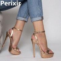 2019 New Summer Sexy Women High Heels Gladiator Sandals 14cm Fashion Stripper Shoes Party Pumps Shoes Women Platform Sandals