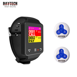 DAYTECH Wireless Pager Coaster Waiter Service Calling System Cafe Buzzer system Hospital Cargiver Receiver Call Buttons
