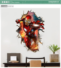 Dream home LV2265 new iron man wall stickers 3d three-dimensional decorative painting avengers wall stickers wholesale dinosaur 3d new creative decorative three dimensional wall stickers