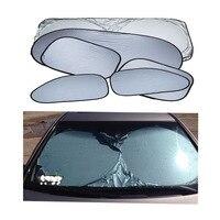 6pcs Set Car Window Sun Shade Car Windshield Visor Cover Block Front Window Sunshade UV Protect