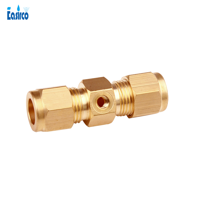 20pcs pack 3 8 one hole Brass OD joint connector compression pipe fitting free shipping