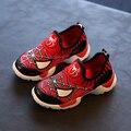 Nova Moda Dos Desenhos Animados para Crianças Sapatos Do Homem Aranha Meninos Slip-On Tênis Respirável Primavera Verão Crianças Sapatos Casuais Para O Tamanho Do Menino 21-30